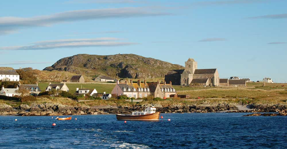 A view of the Isle of Iona taken from the Ferry