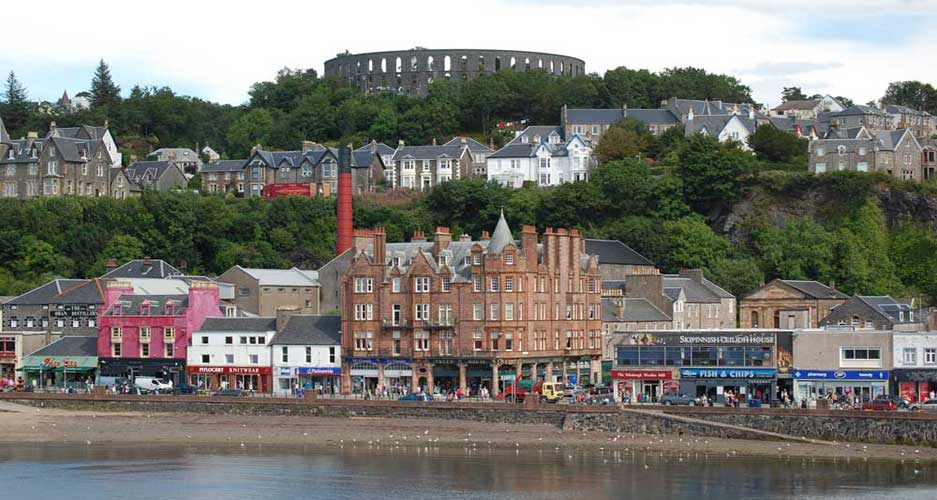 The scenic town of Oban