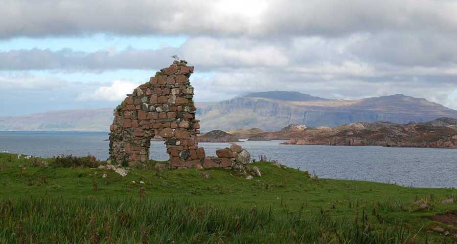 Tigh an Easbuig; ruins near the Iona Abbey